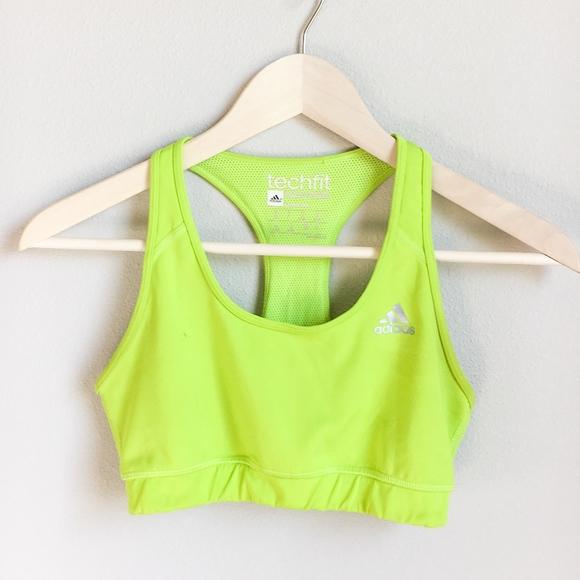 Neon Green Adidas Sports Bra